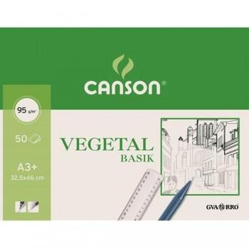 Bloc 50 Láminas papel vegetal 90-95 grs A3+