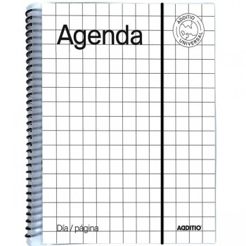 Agenda espiral bachillerato Universal 288 pag dia-página 12x18,5 cm.