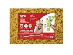 Bolsa 3 l minas de goma eva estampado leopardo de 2mm 60x40 cm amarillo