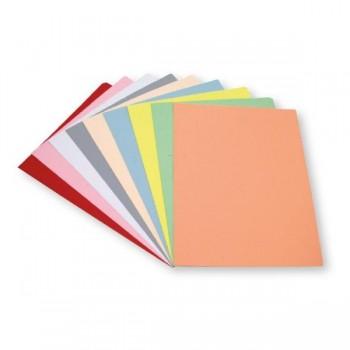 Dequa Pack 50 subcarpetas Dequa cartulina folio 180g colores pastel sepia