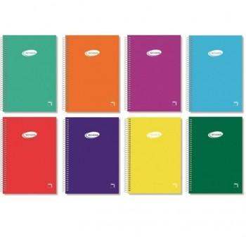 Cuaderno tapa cartóncillo Pacsa folio 80h rayado pautado 3,5