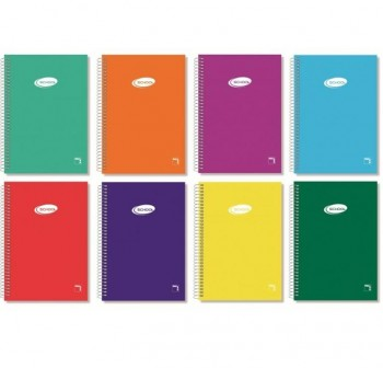 Cuaderno tapa cartóncillo Pacsa folio 80h rayado liso