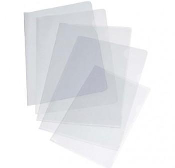 Caja 100 dossiers uñeros pvc folio cristal