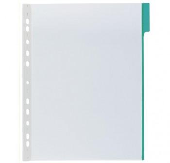 Caja 5 fundas clasificadores a4 transparente marco verde