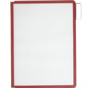 Caja 5 fundas clasificadores Sherpa a4 transparentes marco morado