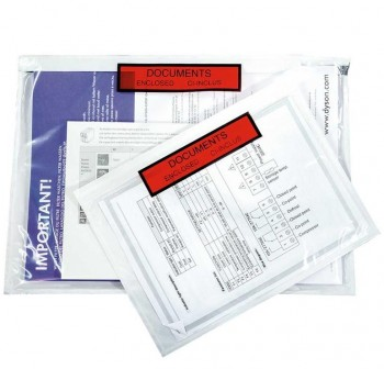 Caja 250 sobres adhesivos Portadocumentos dokufix texto impreso 125x110mm (int)