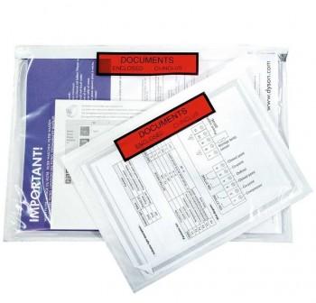 Caja 250 sobres adhesivos Portadocumentos dokufix texto impreso 165x122mm (int)
