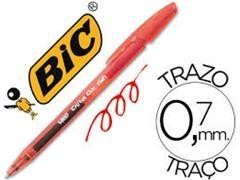Bolígrafo Bic cristal clic gel rojo