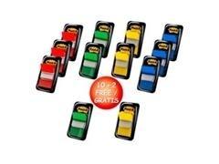 Caja 10 dispensadores+2 gratis Post-it, mixto de 3 dispensadores dobles verde-azul y 3 dispensadores