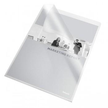 Caja 100 dossiers uñeros pvc folio transparente