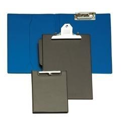 Carpeta miniclip forrada PVC folio azul