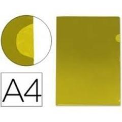 Caja 50 Dossiers uñeros PVC folio amarillo