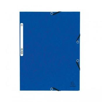 Carpeta con gomas y 3 solapas Nature Future 355gr color azul