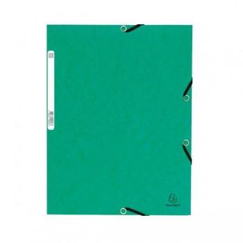 Carpeta con gomas y 3 solapas Nature Future 355gr color verde