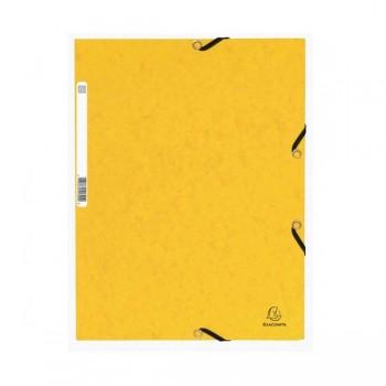 Carpeta con gomas y 3 solapas Nature Future 355gr color amarillo
