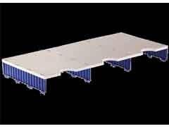 ARCHIVO2000 Buc modular archidoc trio ampliacion de 3 huecos de 57mm de alto AZUL