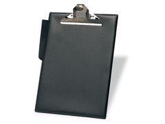Portapapeles pvc con Pinza con portaBolígrafos folio negro