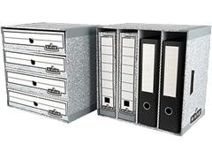Pack 5 Clasificadores Archivadores R-kive 93x380X283Mm gris