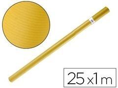 F7I Bobina de papel kraft 1,10x25mt color AMARILLO