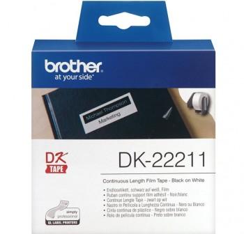 BROTHER Cinta en continua plastica QL 29mmx15,24m blanca