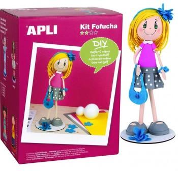 APLI Kit fofucha vestido rosa alice