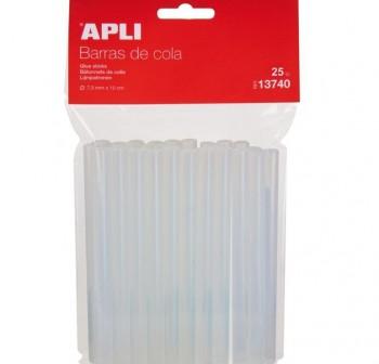 APLI Barra de cola para barras de cola 7,5mm (silicona) 25uds