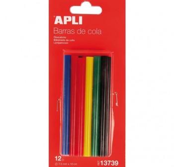 APLI Barra de cola para barras de cola 7,5mm color (silicona) 12uds