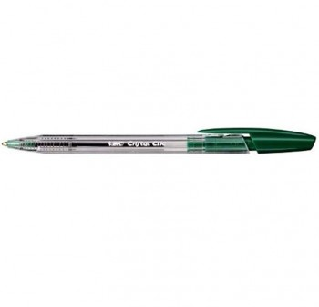 Bolígrafo retráctil Bic cristal clic verde