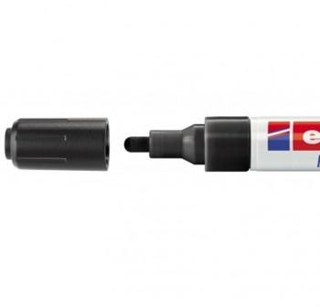 Marcador Edding 4095 de tiza liquida para pizarras y vidrio, con punta redonda trazo 2-3 mm negro