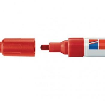 Marcador Edding 4095 de tiza liquida para pizarras y vidrio, con punta redonda trazo 2-3 mm rojo