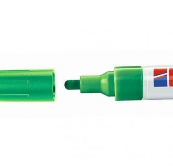 Marcador Edding 4095 de tiza liquida para pizarras y vidrio, con punta redonda trazo 2-3 mm verde