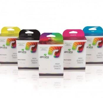 Pack 4 Cartuchos Ink-jet Arcyris alternativo Epson T04454010 negro + colores