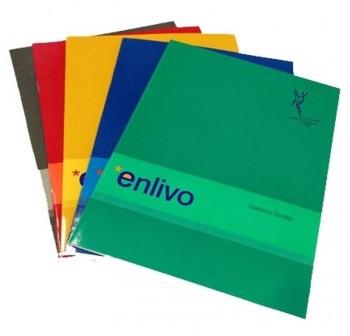 ENLIVO Libreta grapada folio c-4mm