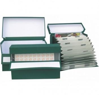 UNIPAPEL Caja transferencia doble-folio con acordeon A-Z carton verde