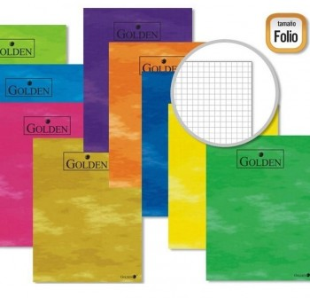Libreta grapada GOLDEN folio 70gr 50h 4X4 colores surtidos