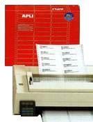 APLI Etiqueta en continuo plegadas en zig-zag