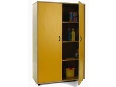 Mueble 2 puertas con 4 estantes fabricado en melamina de haya de 19 mm 90x40x147 cm