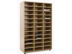 Mueble de 36 casillas fabricado en melamina de haya de 19 mm 90x40x147 cm