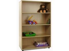 Mueble medio 4 estarerías fabricado en melamina de haya de 19 mm 90x40x147 cm