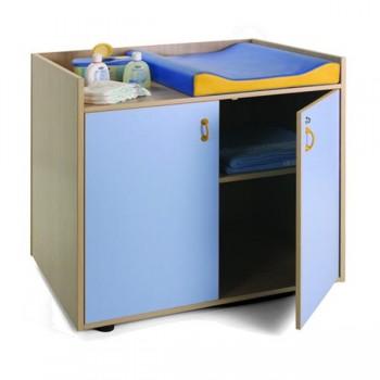 Mueble cambiador con 2 puertas con 2 estante 90x70x96 cm