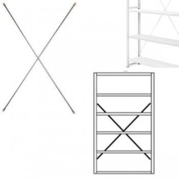 Cruceta para estanterías gris claro RAL 7035 183,2x80cm
