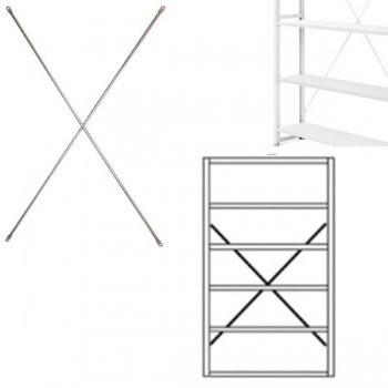 Cruceta para estanterías gris claro RAL 7035 183,2x120cm