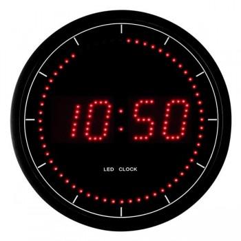 Reloj de pared digital de leds 30cm diam.