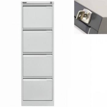 Archivador metálico BS Premium 4 cajones de archivo. Fº. Tirador integrado 470x1321x622mm. Gris