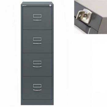 Archivador metálico BS Premium 4 cajones de archivo. Fº. Tirador clásico cromado 470x1321x622mm. Gri