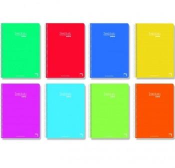 Cuaderno tapa cartóncillo Pacsa 4º 80h rayado pautado 3,5