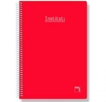 Cuaderno tapa contracolada folio 80h rayado pautado 3,5 rojo