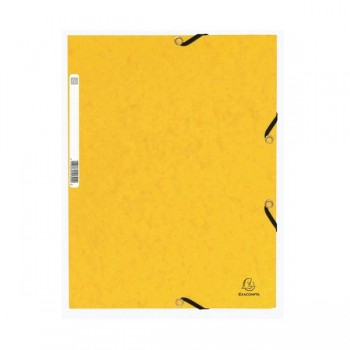 Carpeta con gomas y 3 solapas Nature Future 355gr color amarillo