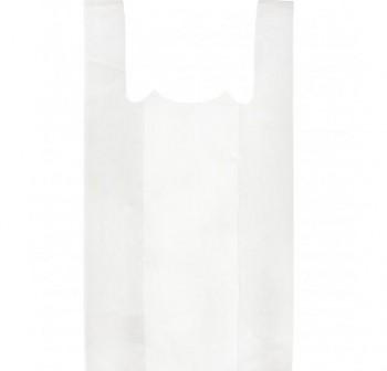 Paquete 200 bolsas camiseta plástico 35x50 cm blanco