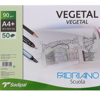 FABRIANO Block de 50hojas de papel vegetal 90gr. DIN-A4